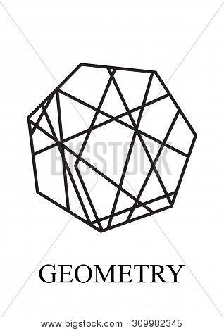 Heptagon Is A Seven-angle Polygon. Abstract Heptagon Geometric Logo Icon