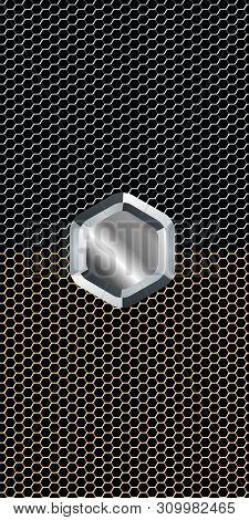 Metallic Mesh Texture Vector Background