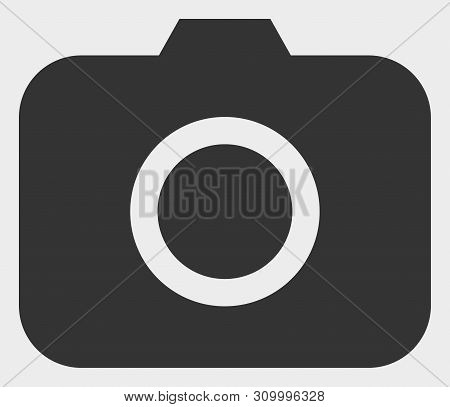 Photocamera Vector Icon. A Flat Illustration Design Of Photocamera Icon On A White Background.