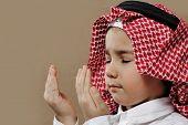 Arabic Kid praying Doa poster