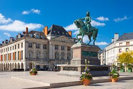 Monument Of Jeanne D'arc On Place Du Martroi In Orleans, France