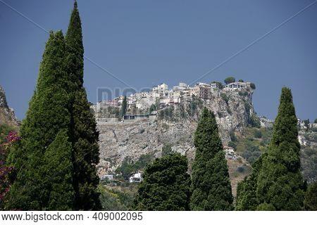 Italy Sicily Taormina Castelmola