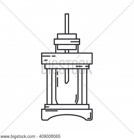 Line Medical Pharmaceutica Icon Flask, Tube. Professional Equipment Symbol. Science, Pharmacy, Medic