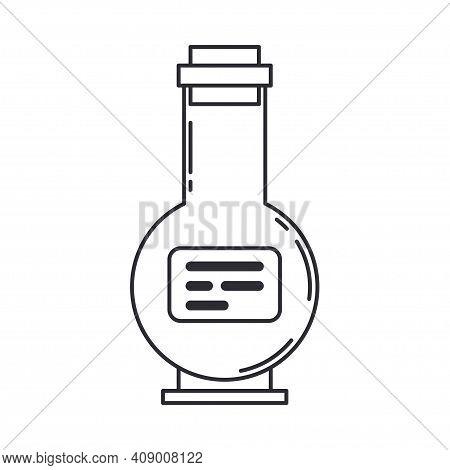 Line Medical Pharmaceutica Icon Retort, Tube. Professional Equipment Symbol. Science, Pharmacy, Medi
