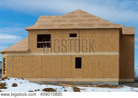 The Walls And Roof Are Covered With Plywood New