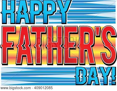 Happy Father's Day Creative Colorful Banner Graphic