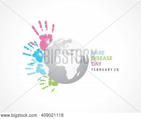 Illustration Of Rare Disease Day Observed On February 28