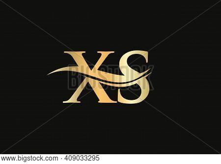 Modern Xs Logotype For Luxury Branding. Initial Xs Letter Business Logo Design Vector