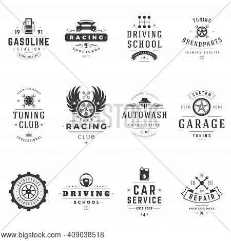 Sports Clubs And Sections Vector Logos Set