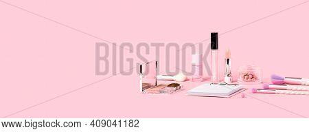 Beauty Unicorn Makeup Brushes Monochrome Pink