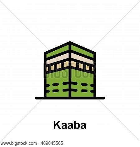 Ramadan Kaaba Outline Icon. Element Of Ramadan Day Illustration Icon. Signs And Symbols Can Be Used