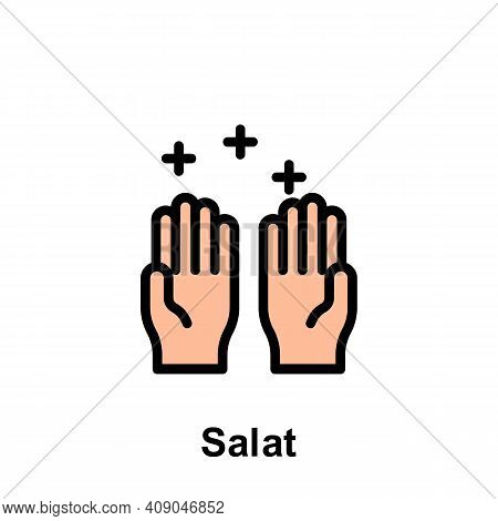 Ramadan Salat Outline Icon. Element Of Ramadan Day Illustration Icon. Signs And Symbols Can Be Used