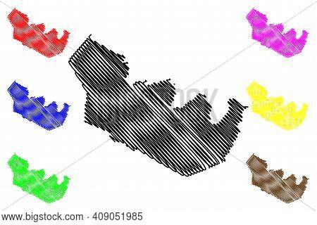 Martin County, North Carolina State (u.s. County, United States Of America, Usa, U.s., Us) Map Vecto