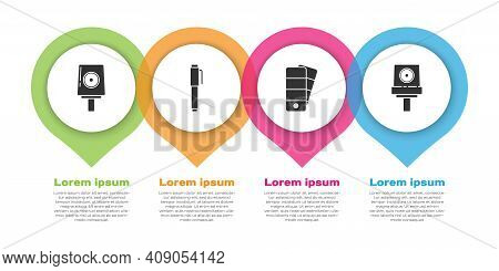 Set Spray Can Nozzle Cap, Pen, Palette And Spray Can Nozzle Cap. Business Infographic Template. Vect