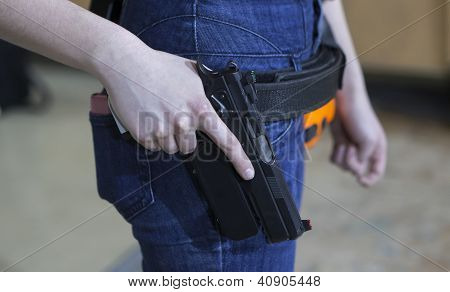 Handgun Woman