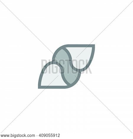 Abstract Letter S 3d Paper Geometric Design Flat Logo Vector