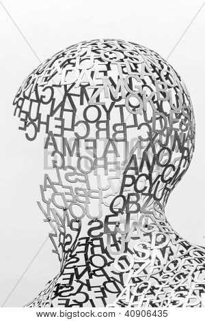 Kiev, Ukraine - Jun 04: Sculpture Detail Body Of Knowledge From Jaume Plensa On June 04, 2012 In Kie