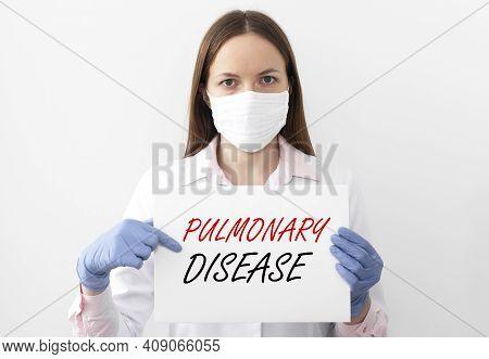 Pulmonary Disease Inscription. Obstructive Lung Pathology Concept
