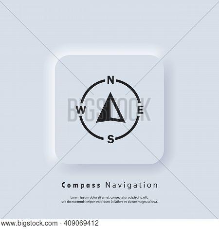 Compass Logo. Navigator Arrow Icon. Navigation Technology, Geolocation Customizable Illustration. Gp