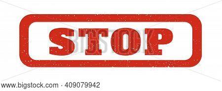 Stop Stempel Grunge Rot. Vector Illustration Eps