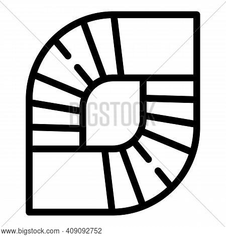 Spiral Staircase Icon. Outline Spiral Staircase Vector Icon For Web Design Isolated On White Backgro