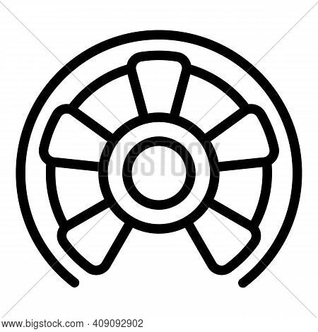 Steel Circular Stairs Icon. Outline Steel Circular Stairs Vector Icon For Web Design Isolated On Whi