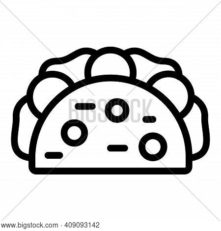 Taco Snack Icon. Outline Taco Snack Vector Icon For Web Design Isolated On White Background