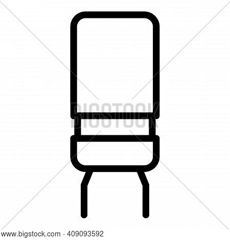 Resistor Component Icon. Outline Resistor Component Vector Icon For Web Design Isolated On White Bac