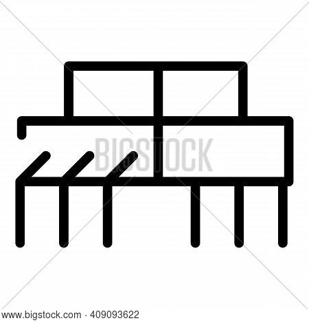 Electronic Resistor Icon. Outline Electronic Resistor Vector Icon For Web Design Isolated On White B
