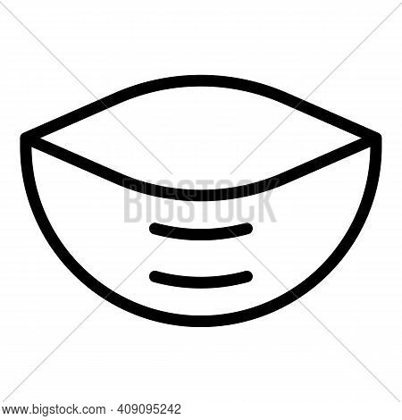 Homemade Pita Bread Icon. Outline Homemade Pita Bread Vector Icon For Web Design Isolated On White B