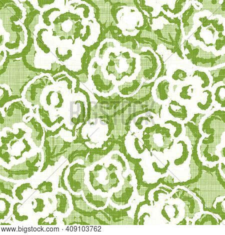 Watercolor Flower Motif Background. Hand Painted Earthy Whimsical Seamless Pattern. Modern Floral Li