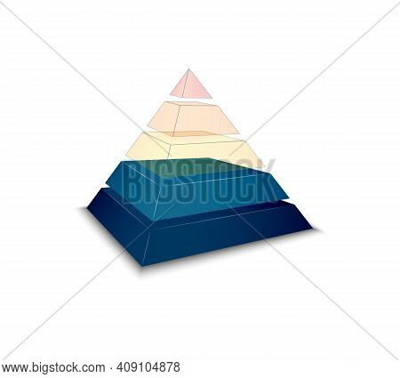 Realistic Icon With Pyramid Chart For Inforgraphics Vector Illustration