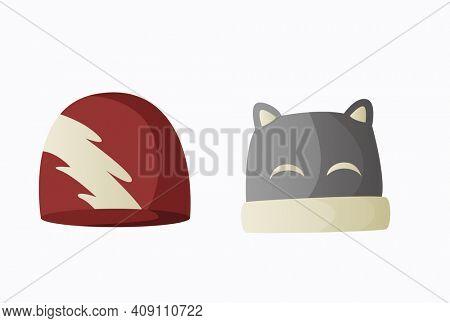 Headwear. Warm headwear, autumn and winter accessories. Fashion headwear for ladies and gentlemen vintage or classic. Unisex vintage elegant headwear