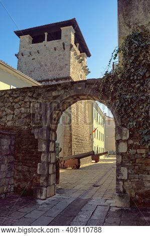 Medieval Architecture.  Montenegro, Tivat City. Medieval Summer House Of The Buca Family