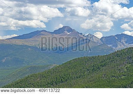 Dramatic Longs Peak On An Alpine Landscape In Rocky Mountain National Park In Colorado