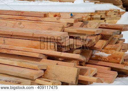 Building Material In The Snow Natural Winter
