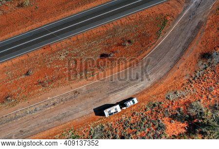 Road To Tennant Creek In Northern Territory