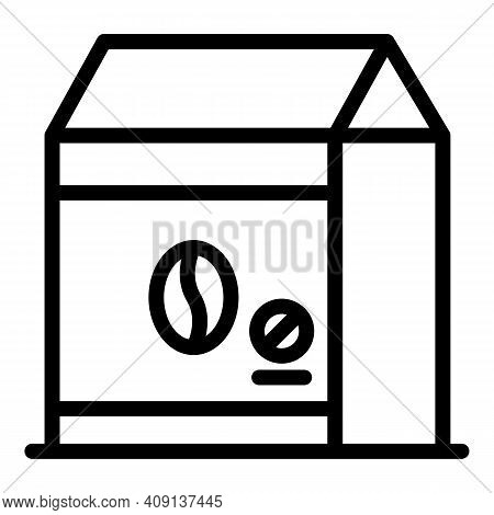 Decaf Coffee Pack Icon. Outline Decaf Coffee Pack Vector Icon For Web Design Isolated On White Backg