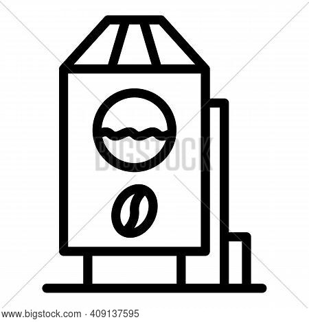 Decaf Container Icon. Outline Decaf Container Vector Icon For Web Design Isolated On White Backgroun