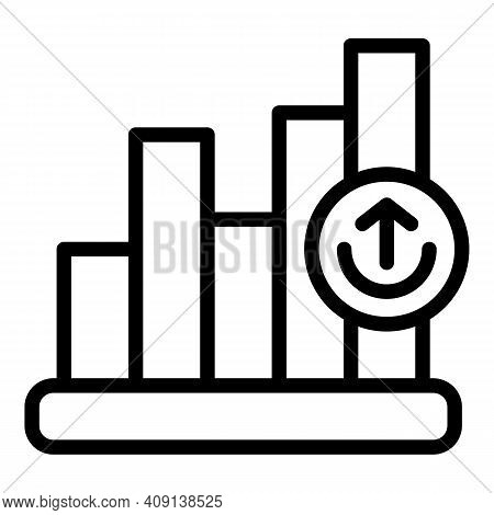 Growth Market Icon. Outline Growth Market Vector Icon For Web Design Isolated On White Background