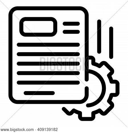 Project Operational Icon. Outline Project Operational Vector Icon For Web Design Isolated On White B