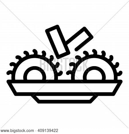 Wood Paper Machinery Icon. Outline Wood Paper Machinery Vector Icon For Web Design Isolated On White