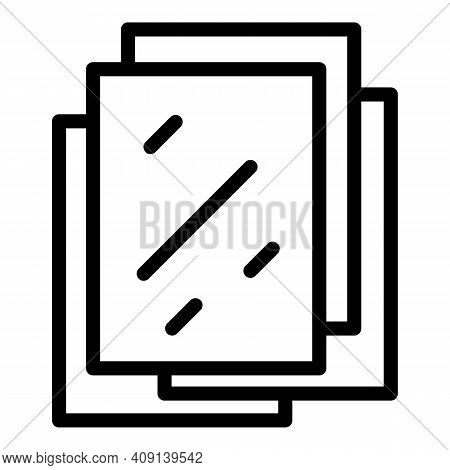 Bio Paper Sheets Icon. Outline Bio Paper Sheets Vector Icon For Web Design Isolated On White Backgro