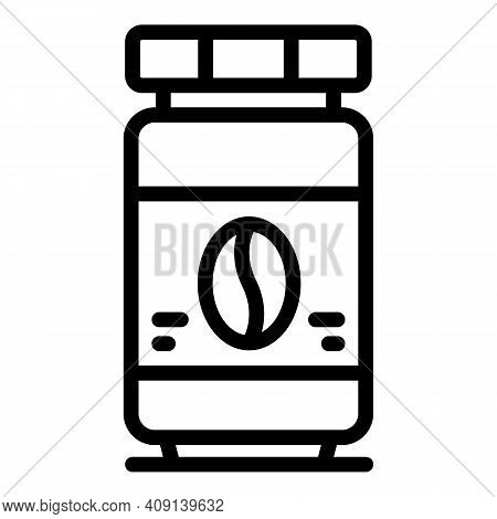 Coffee Jar Icon. Outline Coffee Jar Vector Icon For Web Design Isolated On White Background