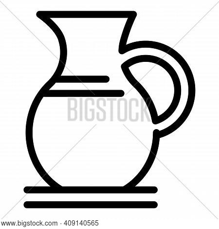 Dairy Pitcher Icon. Outline Dairy Pitcher Vector Icon For Web Design Isolated On White Background