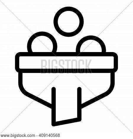 Funnel Market Icon. Outline Funnel Market Vector Icon For Web Design Isolated On White Background