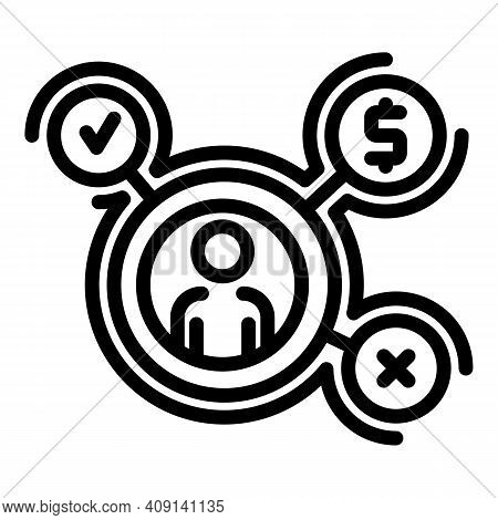 Customer Segmentation Icon. Outline Customer Segmentation Vector Icon For Web Design Isolated On Whi