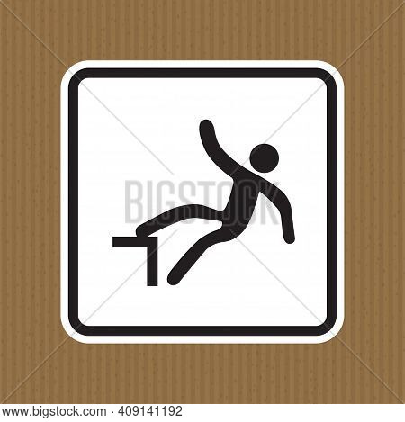 Beware Drop Symbol Sign Isolate On White Background,vector Illustration