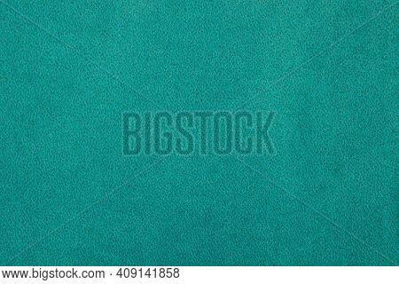 Green Fabric Texture - Top View And A Close-up Of A Piece Of Green Velvet