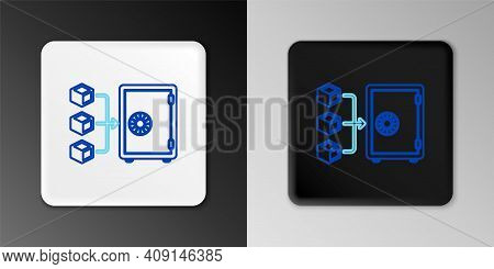 Line Proof Of Stake Icon Isolated On Grey Background. Cryptocurrency Economy And Finance Collection.